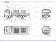 борт на Камаз 43253 - 1013 - R4 5м (баллоновоз), без тента