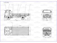 борт на Камаз 43253 - 1013 - R4 5м, без тента