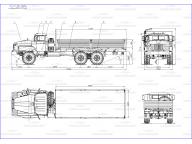 борт на Урал 4320 - 1912 -60 6,1м, без тента