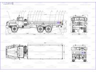 борт на Урал 4320 - 1912 -70 6м для перевозки ВВ, без тента