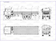 борт на Урал 4320 - 4971 - 82 7,5м, без тента