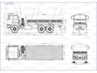 борт на Урал 63701 - 1952 6,5м, без тента