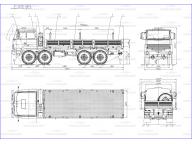 борт на Урал 532362 - 1022 - 10 7м, без тента