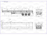 борт на TAB 3 оси - пневмоподвеска односкат 14м ППБ 30-32-14К, без тента