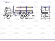 борт на МАЗ 6317 - X9 6м, тент