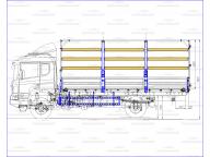 борт на Scania P - CB4X4EHZ 6,5м, тент