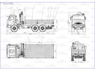 борт на Камаз 43118 - 3027 - 46 5м с ИМ-150, КМУ
