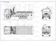 борт на Камаз 43118 - 3048 - 46 5м с PK15500, КМУ