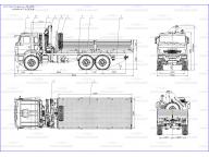борт на Камаз 43118 - 3078 - 46 6,1м с PK15500, КМУ