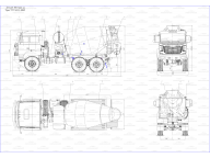 бетоносмеситель на Урал 5557 - 4151 -82 6ДА, автономный ДВС