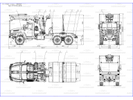 лесовоз на Урал 4320 - 6952 - 74Г38 с ОМТЛ-97, с КМУ