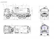 вакуумка на Камаз 43118 - 3027 jg07 МВ-10 ОД с PNR-122 на КАМАЗ-43118-46 илососная, ИЛ