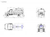 вакуумка на ГАЗ Next - C41R13 3,5; КО-510; стрела верхняя гидравлическая, АКНС